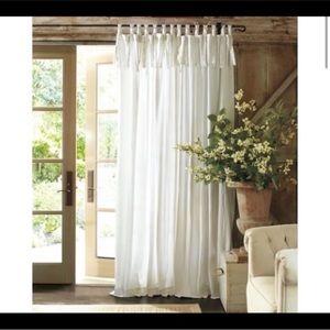 Pottery Barn | Tie Top Curtain Panel